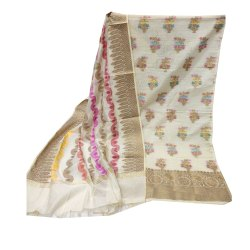 Keyanshi Bust Up to 44inch Banarasi Jacquard Dress Material