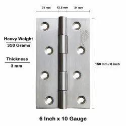 Atlantic Door Butt Hinges 6 inch x 10 Gauge/3 mm Thickness (Stainless Steel, Satin Matt Finish)