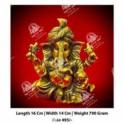 790 gm Metal Kala Ganesha God Statue