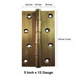 Atlantic Door Butt Hinges 5 inch x 12 Gauge/2.5 mm Thickness (Stainless Steel, Antique Finish)
