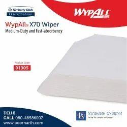 Wypalls X70 Wipers / Flat Sheet / White / 25.4 Cm X 38 Cm, 1305