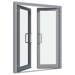 Silver Aluminium Doors, Double Door