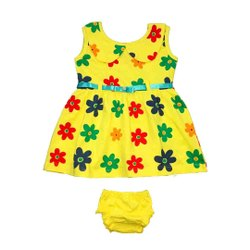 Sleeveless Baby Frock With Panty Set