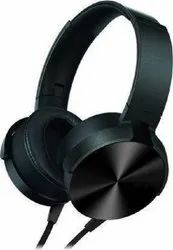High Extra Bass On-Ear Wired Headphone In-line Mic Wire Headset Wired Headset (Black, On the Ear)