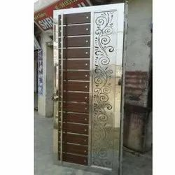 Polished Stainless Steel Doors, Single, Material Grade: SS304