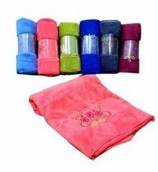 Microfiber Pink Embroidered Microfibre Bath Towel, For Bathroom, Size: 140x70cm