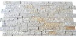 White Mint Rock Face Natural Stone Tile, For Wall, Thickness: 18mm