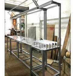 Polished Aluminium Profile Table, For Industrial