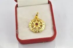 cubic zirconia pendant gold plated