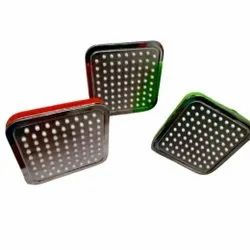 4 Inches Square Platina Shower