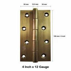 Atlantic Door Butt Hinges 4 Inch x 12 Gauge/2.5 mm Thickness (Stainless Steel, Antique Finish)