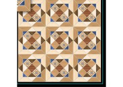 Brown Digital Printing Printed Ceramic Tile, Thickness: 10mm, Size: 600x600mm