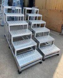 Silver SS Industrial Ladder