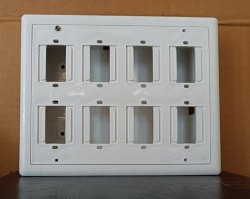 K & K PVC White Electric Switch Board, Finishing Type: Wood Finish