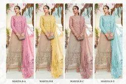 Ank Enterprise Heavy Embrodered Orgenza  Latest Designer Wedding Wear Salwar Suit