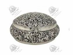 Round Polished Silver Plated Artifacts