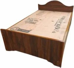 Brown Home Wooden Single Bed