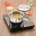 Magnus Triply Stainless Steel Sauce Pan with Stainless Steel Lid and Induction Bottom, 16 cm (1.6 L)