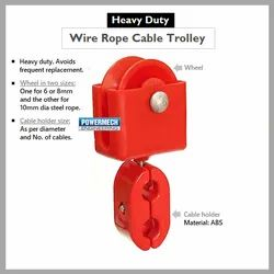 Wire Rope Cable Carrier Trolley