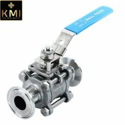 SS Sanitary Clamped Ball Valves 3 piece
