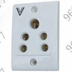 Normal Brass Vega White 3 Pin Electrical