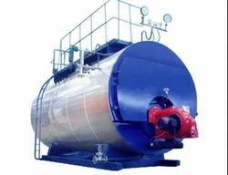 Oil & Gas Fired 1000-2000 kg/hr Horizontal Steam Boiler IBR Approved