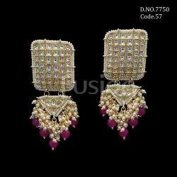 Fusion Arts Indo Western Kundan Earrings