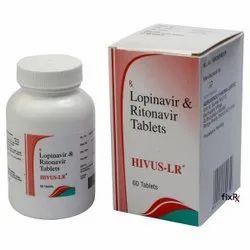 Hivus-LR 50mg/200mg Tablet (Ritonavir (50mg) + Lopinavir (200mg)