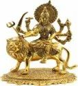 Gold Plated Durga Mata Statue For Decoration, Wedding, Corporate Gift