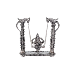 Silver Plated Metal Ganesh Jhulla For Home Decoration & Wedding & Corporate Gift