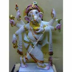 Multicolor Jaipurcrafts Ganesh Statue