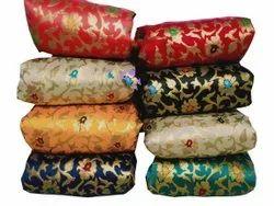 50Inch Banarasi Jacquard Silk Fabric