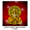 Worship Metal Kala Ganesh God Statue