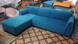 hyconindia Wooden L Sofa, Hall, Size: 6x5