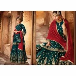 Green Bridal Wear Salwar Suit