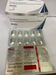 Diclofenac 50 Mg + Paracetamol 325mg + Serrationpeptidase 10 Mg