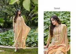 Sanna Kaani Printing With Fancy Work Salwar Kameez Collection