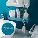 Newvent Multicolor Rectangle Self, Abs Rectangle Self, Self Adhesive Shelf, For Bathroom, 1