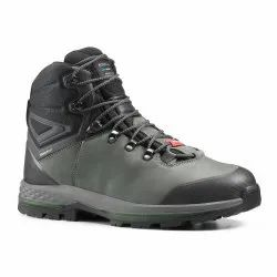 Forclaz Mens 100 Khaki Waterproof Leather Trekking Boots