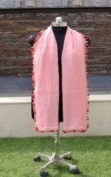 Cotton Silk Pompom Scarfs