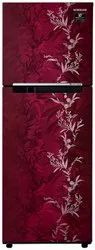 2 Star Maroon Samsung Double Door Refrigerator, Capacity: 253 L