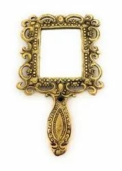 Metal Gold Plated Hand Mirror For Corporate Gift