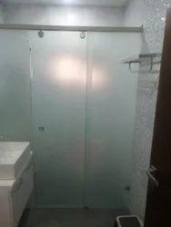 Frosted Sliding Shower Enclosure