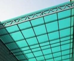 Green Polycarbonate Roofing Sheet, Thickness 10mm