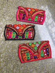 Handwork Embroidery Multicolor Kutch Work Clutch