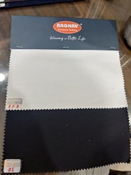 RFD , Black Cotton Lycra Fabric For Trousers, Plain/solids