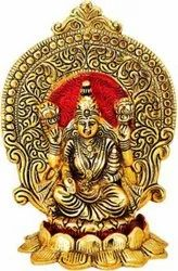 Metal Gold Plated Laxmi Statue For Home Pooja & Diwali Corporate Gift