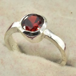 Ad Finger Ring Golden Silver Polished