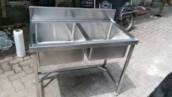 Stainless Steel 2 Sink Unit
