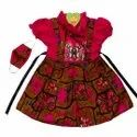 100% Cotton Pure Cotton Baby Frock With Mask